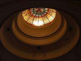 Stained Glass Dome at St. Elizabeth's
